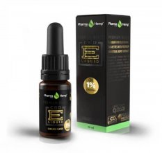 Premium Black CBD liquid 1 % 10 ml Cannabis