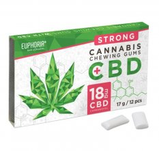 CBD Žvýkačky STRONG 12 ks - CBD 18 mg