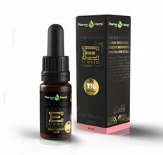 Premium Black CBD liquid 1 % 10 ml Creamy strawberry