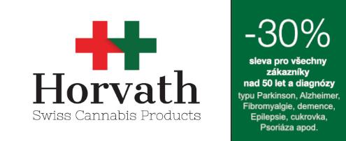 Logo Horvath Swiss Cannabis + sleva 30 %