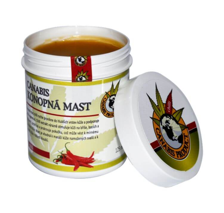 Konopná mast s chilli 25 ml